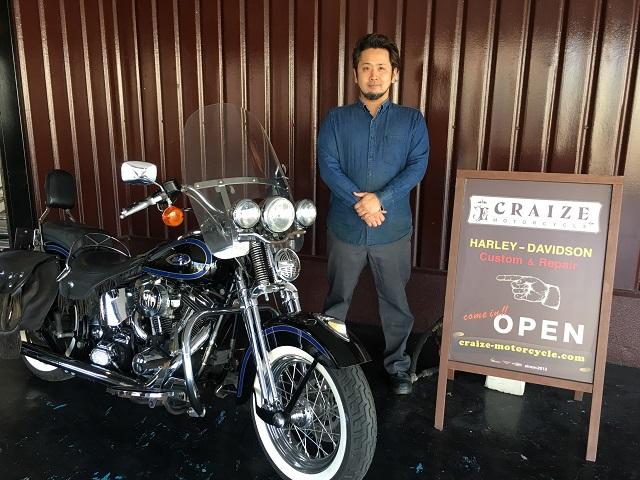 山口県下関市のCRAIZE MOTORCYCLE (クレイズモーターサイクル) の代表である安河内のイメージ01