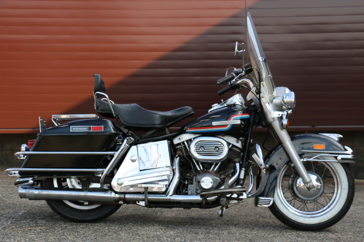 山口県下関市のCRAIZE MOTORCYCLE (クレイズモーターサイクル) のハーレー(Harley-Davidson)販売モデル1975年FLHイメージ01