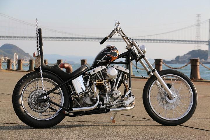 山口県下関市のCRAIZE MOTORCYCLE (クレイズモーターサイクル) のハーレー(Harley-Davidson)カスタム1975年ショベルリジット イメージ01