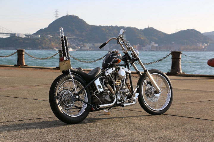 山口県下関市のCRAIZE MOTORCYCLE (クレイズモーターサイクル) のハーレー(Harley-Davidson)カスタム1975年ショベルリジット イメージ04