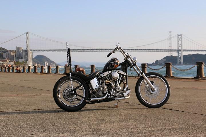 山口県下関市のCRAIZE MOTORCYCLE (クレイズモーターサイクル) のハーレー(Harley-Davidson)カスタム1975年ショベルリジット イメージ03