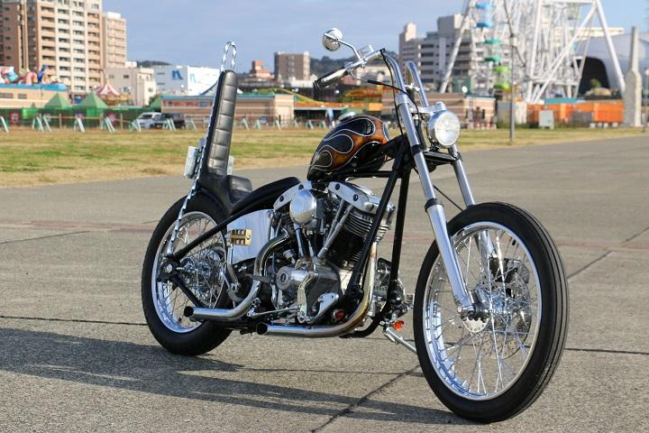 山口県下関市のCRAIZE MOTORCYCLE (クレイズモーターサイクル) のハーレー(Harley-Davidson)カスタム1975年ショベルリジット イメージ02