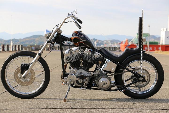 山口県下関市のCRAIZE MOTORCYCLE (クレイズモーターサイクル) のハーレー(Harley-Davidson)カスタム1975年ショベルリジット イメージ05