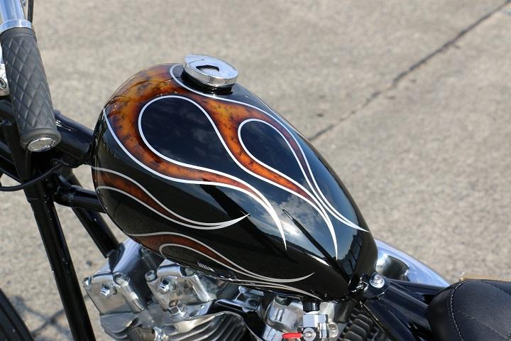 山口県下関市のCRAIZE MOTORCYCLE (クレイズモーターサイクル) のハーレー(Harley-Davidson)カスタム1975年ショベルリジット イメージ06