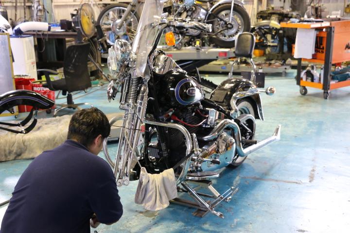 山口県下関市のCRAIZE MOTORCYCLE (クレイズモーターサイクル) のハーレー(Harley-Davidson)やバイク(単車)整備イメージ01