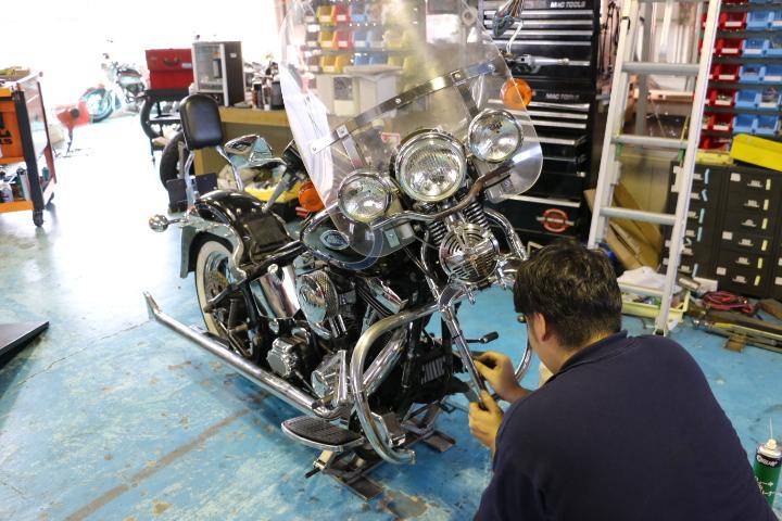 山口県下関市のCRAIZE MOTORCYCLE (クレイズモーターサイクル) のハーレー(Harley-Davidson)やバイク(単車)整備イメージ02